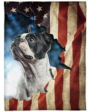 "Beautiful Boston terrier Large Fleece Blanket - 60"" x 80"" front"