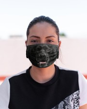 Amazing Black Labrador Cloth face mask aos-face-mask-lifestyle-03