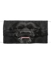 Amazing Black Labrador Cloth face mask front