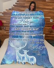 """Nana to my granddaughter - Just do your best Large Fleece Blanket - 60"""" x 80"""" aos-coral-fleece-blanket-60x80-lifestyle-front-04"""