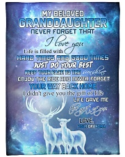 """Nana to my granddaughter - Just do your best Large Fleece Blanket - 60"""" x 80"""" front"""