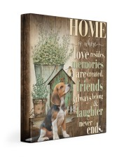 Beagle - Home 11x14 Gallery Wrapped Canvas Prints front