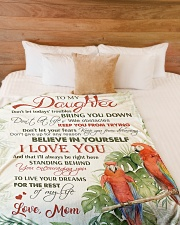 """To my daughter - Believe in yourself Large Fleece Blanket - 60"""" x 80"""" aos-coral-fleece-blanket-60x80-lifestyle-front-02"""