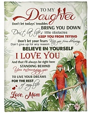 "To my daughter - Believe in yourself Large Fleece Blanket - 60"" x 80"" front"