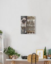 Pug - I am your friend 11x14 Gallery Wrapped Canvas Prints aos-canvas-pgw-11x14-lifestyle-front-03