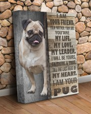 Pug - I am your friend 11x14 Gallery Wrapped Canvas Prints aos-canvas-pgw-11x14-lifestyle-front-18