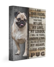 Pug - I am your friend 11x14 Gallery Wrapped Canvas Prints front