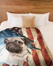 """Beautiful  Pug Large Fleece Blanket - 60"""" x 80"""" aos-coral-fleece-blanket-60x80-lifestyle-front-02"""