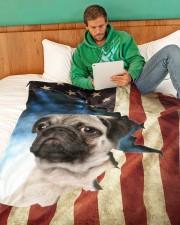 """Beautiful  Pug Large Fleece Blanket - 60"""" x 80"""" aos-coral-fleece-blanket-60x80-lifestyle-front-06"""