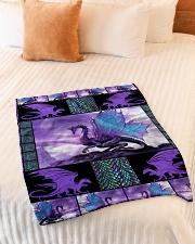"I freaking love dragons Small Fleece Blanket - 30"" x 40"" aos-coral-fleece-blanket-30x40-lifestyle-front-01"