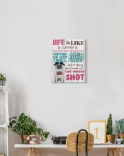 Pug - Life is like a camera 11x14 Gallery Wrapped Canvas Prints aos-canvas-pgw-11x14-lifestyle-front-03