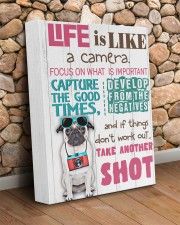 Pug - Life is like a camera 11x14 Gallery Wrapped Canvas Prints aos-canvas-pgw-11x14-lifestyle-front-18