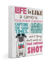 Pug - Life is like a camera 11x14 Gallery Wrapped Canvas Prints front