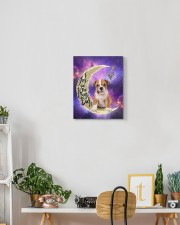English bulldog - Love you to the moon and back 11x14 Gallery Wrapped Canvas Prints aos-canvas-pgw-11x14-lifestyle-front-03