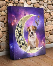 English bulldog - Love you to the moon and back 11x14 Gallery Wrapped Canvas Prints aos-canvas-pgw-11x14-lifestyle-front-18