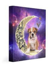 English bulldog - Love you to the moon and back 11x14 Gallery Wrapped Canvas Prints front