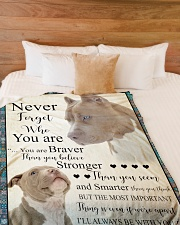 """Pit Bull - Never forget who you are Large Fleece Blanket - 60"""" x 80"""" aos-coral-fleece-blanket-60x80-lifestyle-front-02"""