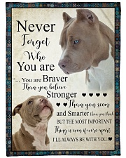 """Pit Bull - Never forget who you are Large Fleece Blanket - 60"""" x 80"""" front"""