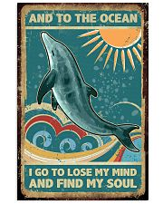 Vintage dolphin 24x36 Poster front
