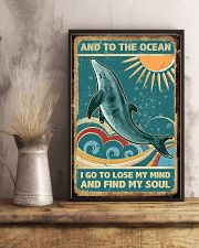 Vintage dolphin 24x36 Poster lifestyle-poster-3