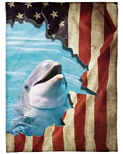 "Beautiful Dolphin Large Fleece Blanket - 60"" x 80"" front"