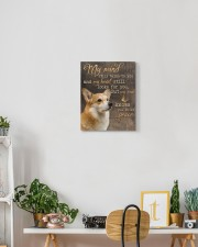 Corgi - My mind still talks to you 11x14 Gallery Wrapped Canvas Prints aos-canvas-pgw-11x14-lifestyle-front-03