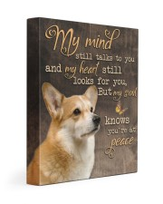 Corgi - My mind still talks to you 11x14 Gallery Wrapped Canvas Prints front