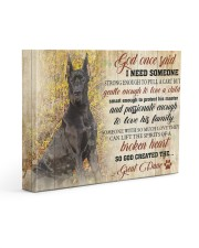 Great dane - God once said 14x11 Gallery Wrapped Canvas Prints front