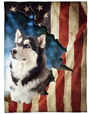"Beautiful Siberian Husky Large Fleece Blanket - 60"" x 80"" front"