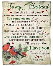 """To my husband - I love you forever Small Fleece Blanket - 30"""" x 40"""" front"""