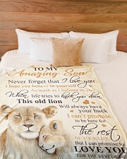 """To my amazing son - Never forget that I love you Large Fleece Blanket - 60"""" x 80"""" aos-coral-fleece-blanket-60x80-lifestyle-front-02"""