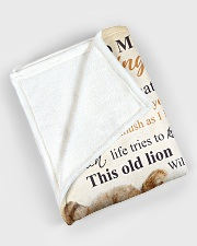 """To my amazing son - Never forget that I love you Large Fleece Blanket - 60"""" x 80"""" aos-coral-fleece-blanket-60x80-lifestyle-front-08"""