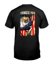 Pekingese papa Classic T-Shirt back