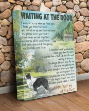 Waiting at the door - Border Collie 11x14 Gallery Wrapped Canvas Prints aos-canvas-pgw-11x14-lifestyle-front-18