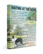 Waiting at the door - Border Collie 11x14 Gallery Wrapped Canvas Prints front