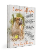 English bulldog - I never left you 11x14 Gallery Wrapped Canvas Prints front