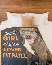 """Just a girl who loves Pit Bull Large Fleece Blanket - 60"""" x 80"""" aos-coral-fleece-blanket-60x80-lifestyle-front-02"""