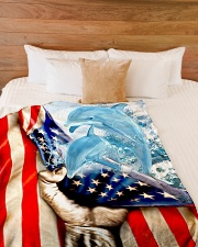 "Beautiful Dolphin Large Fleece Blanket - 60"" x 80"" aos-coral-fleece-blanket-60x80-lifestyle-front-02"