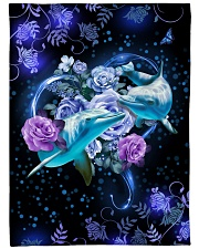 """Beautiful dolphins Large Fleece Blanket - 60"""" x 80"""" front"""