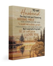 To my husband - You are my missing piece 11x14 Gallery Wrapped Canvas Prints front