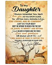 My daughter - I'll always be there to support you 11x17 Poster front