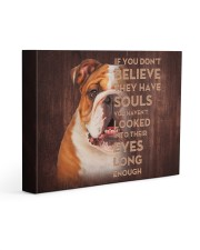 English bulldog - Just look into their eyes 14x11 Gallery Wrapped Canvas Prints front
