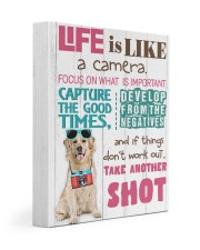 Labrador - Life is like a camera 11x14 Gallery Wrapped Canvas Prints front