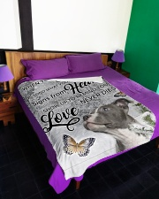 """Pit Bull - Love never dies Large Fleece Blanket - 60"""" x 80"""" aos-coral-fleece-blanket-60x80-lifestyle-front-01"""