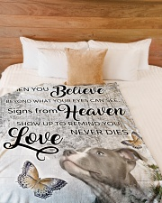 """Pit Bull - Love never dies Large Fleece Blanket - 60"""" x 80"""" aos-coral-fleece-blanket-60x80-lifestyle-front-02"""