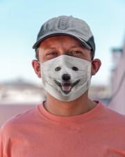 Amazing Samoyed Cloth face mask aos-face-mask-lifestyle-06
