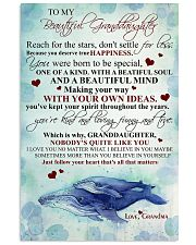 To my beautiful granddaughter 11x17 Poster front