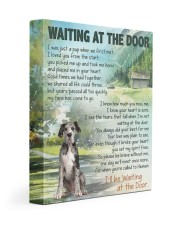 Great dane 1 - Waiting at the door 11x14 Gallery Wrapped Canvas Prints front