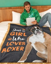 """Just a girl who loves boxers Large Fleece Blanket - 60"""" x 80"""" aos-coral-fleece-blanket-60x80-lifestyle-front-06"""