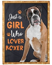 """Just a girl who loves boxers Large Fleece Blanket - 60"""" x 80"""" front"""